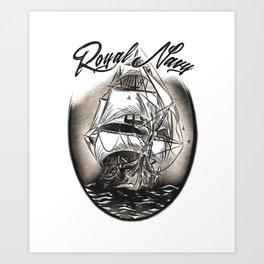 Royal Navy Art Print
