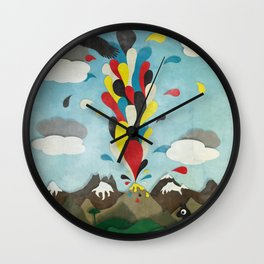 Sur de Chile Wall Clock
