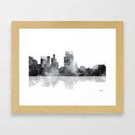Boise, Idaho Skyline BG Framed Art Print