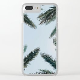 palm trees xvii Clear iPhone Case