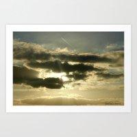 Sun Clouds Art Print