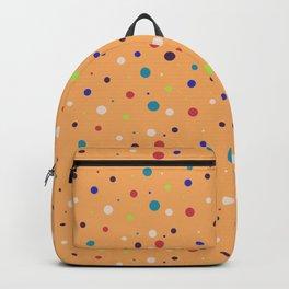 Modern geometrical colorful abstract polka dots Backpack