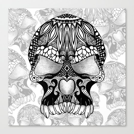 Sugar Skull.  Canvas Print
