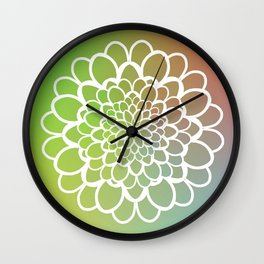 Mandala on a Rainbow Wall Clock