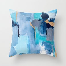 Summer Sky Abstract Throw Pillow