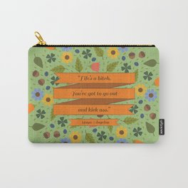 Maya Angelou Floral Inspirational Quote Carry-All Pouch