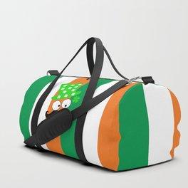 Irish mustache man st.Patty's day Duffle Bag