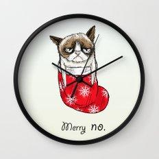 grumpy christmas Wall Clock