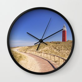 I - Lighthouse on the island of Texel in The Netherlands Wall Clock