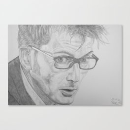 Tenth Doctor Pencil Canvas Print