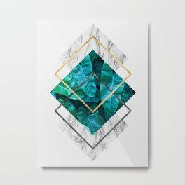 Plant collage IX Metal Print