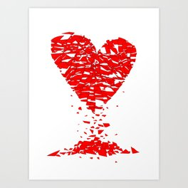Shattered Lovers Heart Art Print