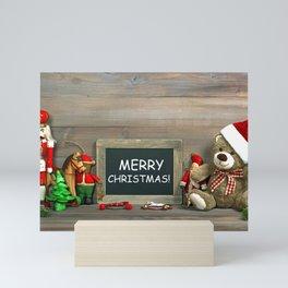 Holiday Christmas Teddy Bear Merry Christmas Toy Mini Art Print
