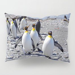 King Penguins on the Beach Pillow Sham