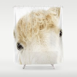 Silver Bullet - Icelandic horse Shower Curtain