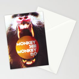Monkey see Monkey do Stationery Cards
