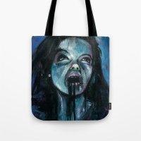 bjork Tote Bags featuring BJORK by chris zombieking