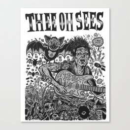 Thee Oh Sees John Dwyer Canvas Print