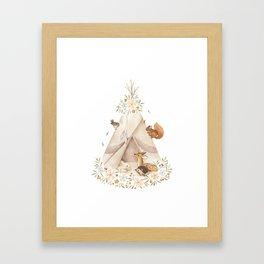 Spring Teepee Framed Art Print