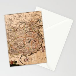 Map Of China 1747 Stationery Cards