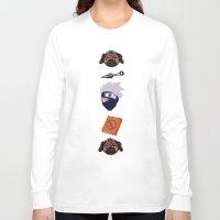 kakashi Long Sleeve T-shirts featuring Kakashi Pattern by Palloma