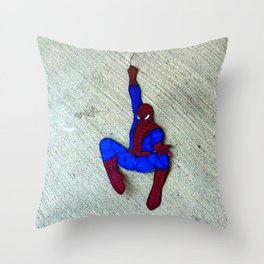 Swinging Spidey-Man Throw Pillow