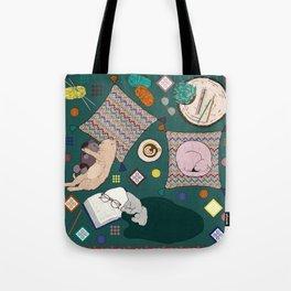 Hygge Kitten Tote Bag