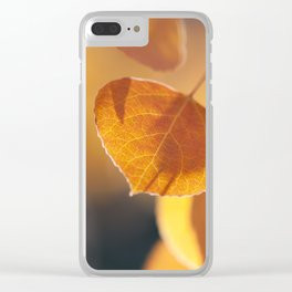 Aspen Embers Clear iPhone Case