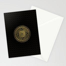 Golden  Star of Lakshmi - Ashthalakshmi  Sri Stationery Cards