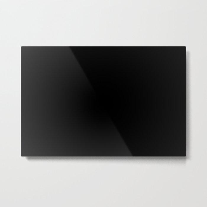 #000000 PURE BLACK Metal Print