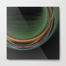 Black sphere Metal Print