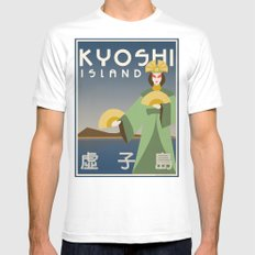 Kyoshi Island Travel Poster MEDIUM White Mens Fitted Tee