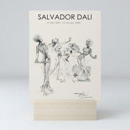 Vintage poster-Salvador Dali-Graphic sketch. Mini Art Print