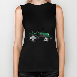 Green Isolated Tractor Biker Tank