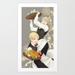 USUK Waiters Art Print