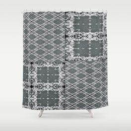 Plaid in Full (T-shirt) Shower Curtain