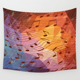 Music notes III Wall Tapestry