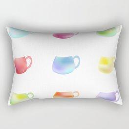 Colorful watercolor cups Rectangular Pillow
