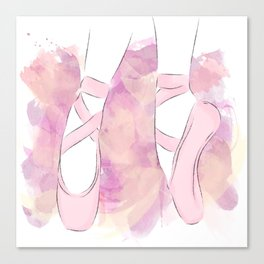 Pink Pointe shoes Canvas Print