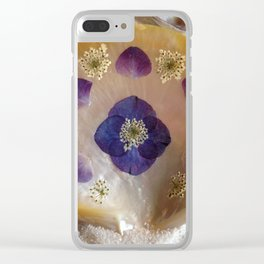 Mother of Pearl Shell Clear iPhone Case