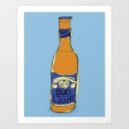 Bud Light Bottle Art Print