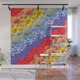Rainbow Flowers Wall Mural