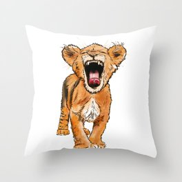 Free the Tiger in You Throw Pillow