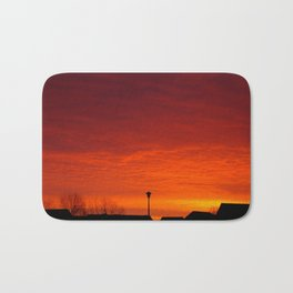 Sunrise over the rooftops Bath Mat