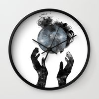 howl Wall Clocks featuring Howl by M. Vander