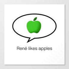 René likes apples Canvas Print