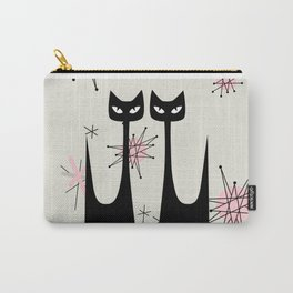 MID-CENTURY ATOMIC PINK CATS Carry-All Pouch