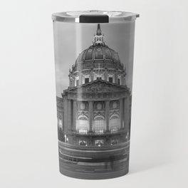 San Francisco City Hall BW Travel Mug