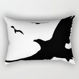 ORIGINAL DESIGN OF FLYING BLACK EAGLES ART Rectangular Pillow