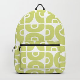 Groovy Mid Century Modern Pattern 731 Chartreuse Backpack